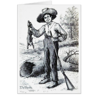 Huckleberry Finn Card