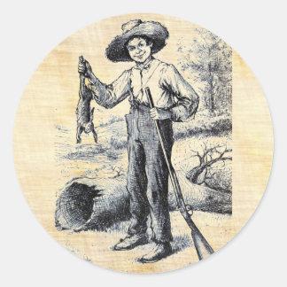 Huckleberry Finn Classic Round Sticker