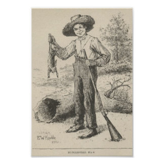Huckleberry Finn Illustration Poster