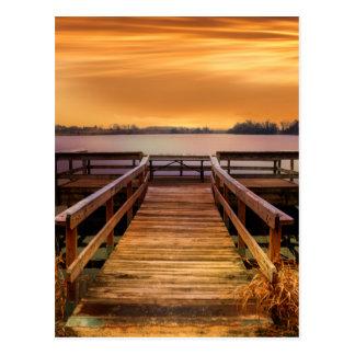Huckleberry Finn Summer Sunset Postcard