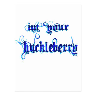 huckleberry quote post card