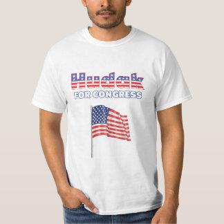 Hudak for Congress Patriotic American Flag T-Shirt