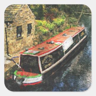 Huddersfield Canal Square Sticker