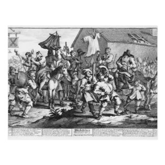 Hudibras Encounters the Skimmington Postcard