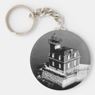 Hudson-Athens Lighthouse Basic Round Button Keychain