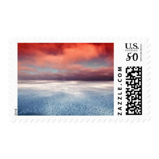 Hudson Bay Canada Ice Ocean Sea Nature Stamp