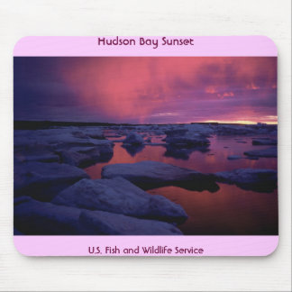 Hudson Bay Sunset , Canada Mouse Mat