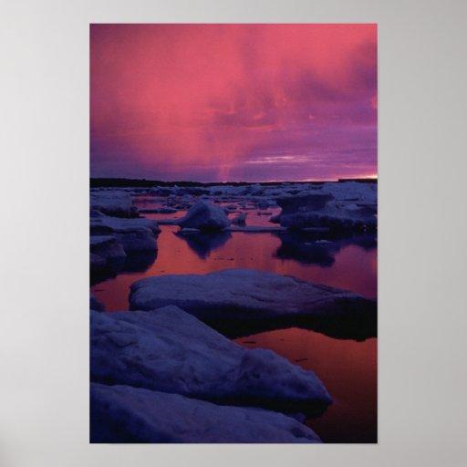 Hudson Bay Sunset Canada Poster