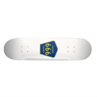 Hudson County New Jersey 666 Skateboard Deck