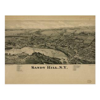 Hudson Falls Sandy Hill New York Map in 1884 Postcards