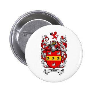 HUDSON FAMILY CREST -  HUDSON COAT OF ARMS BUTTON