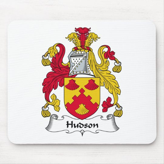 Hudson Family Crest Mouse Pad