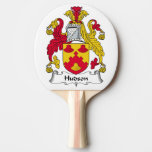 Hudson Family Crest Ping-Pong Paddle