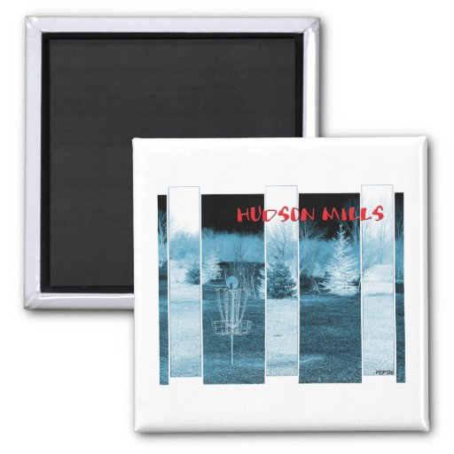 Hudson Mills #4 2 Inch Square Magnet
