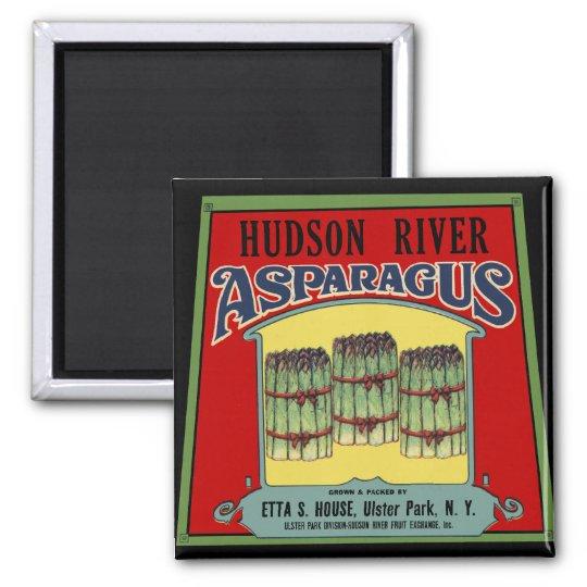 Hudson River Asparagus Label Magnet
