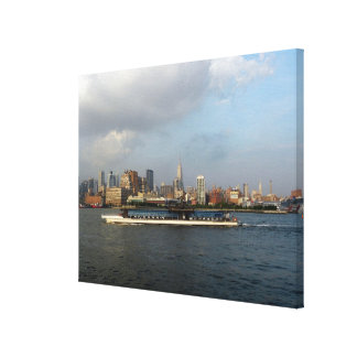 Hudson River Barge Canvas Print