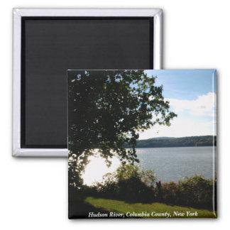 Hudson River, Columbia County, Ne... 2 Inch Square Magnet