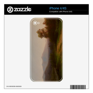 Hudson River Landscape, c.1860-5 (oil on canvas) Decal For iPhone 4