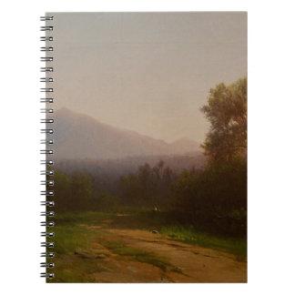 Hudson River Landscape, c.1860-5 (oil on canvas) Spiral Notebooks