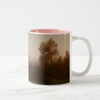 Hudson River Landscape, c.1860-5 (oil on canvas) Two-Tone Coffee Mug