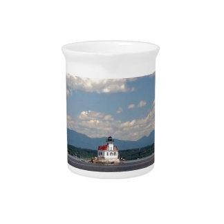 Hudson River Lighthouse Pitcher