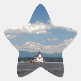 Hudson River Lighthouse Star Sticker