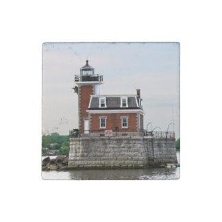 Hudson River Lighthouse Stone Magnet