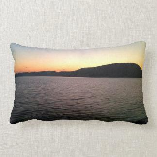 Hudson River / modern stripes throw cushion