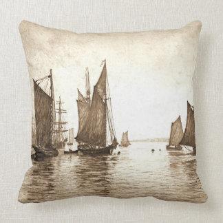 Hudson River Morning 1889 Throw Pillow