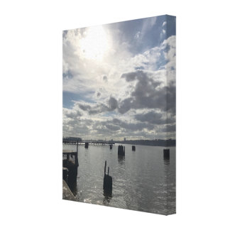 Hudson River, New York City NYC Photograph Art Canvas Print
