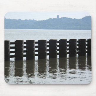Hudson River New York Fence Photo Mouse Pad