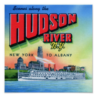 Hudson River New York to Albany Poster