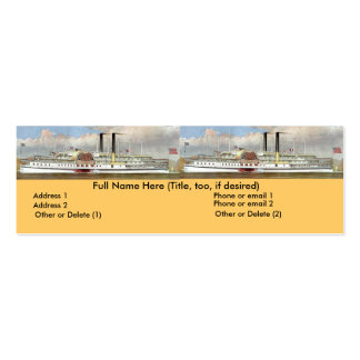 Hudson River Steamer 1877 Bookmark Double-Sided Mini Business Cards (Pack Of 20)