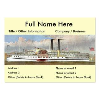 Hudson River Steamer 1877 Bookmark Large Business Cards (Pack Of 100)