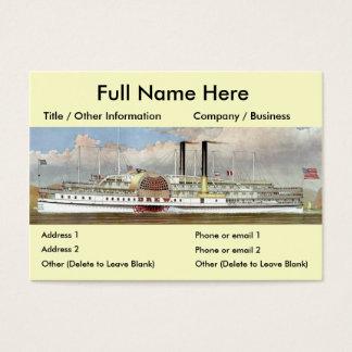 Hudson River Steamer 1877 Bookmark Business Card
