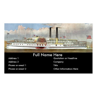 Hudson River Steamer 1877 Bookmark Double-Sided Standard Business Cards (Pack Of 100)