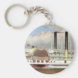 Hudson River Steamer 1877 Bookmark Keychain