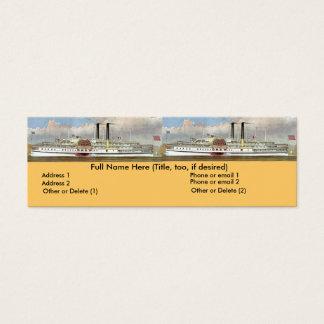 Hudson River Steamer 1877 Bookmark Mini Business Card