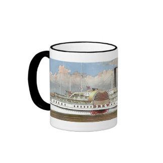 Hudson River Steamer 1877 Bookmark Ringer Coffee Mug