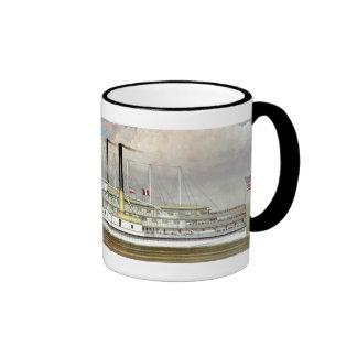 Hudson River Steamer 1877 Bookmark Coffee Mug
