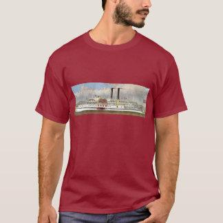 Hudson River Steamer 1877 Bookmark T-Shirt