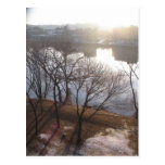hudson river sunrise postcard