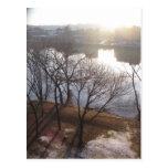 hudson river sunrise postcards