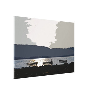 Hudson River Sunset Canvas Print