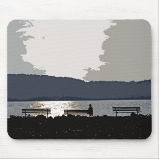 Hudson River Sunset Mouse Pad