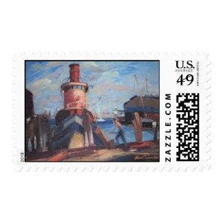 Hudson River Tug Boat Postage Stamps