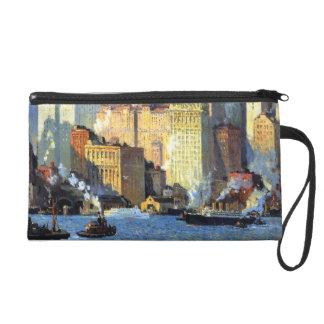 Hudson River Waterfront - Colin Campbell Cooper Wristlet