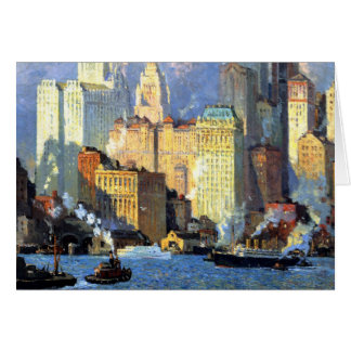 Hudson River Waterfront - Colin Campbell Cooper Card