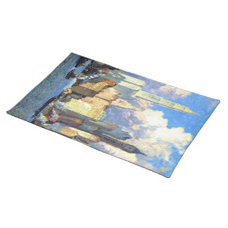 Hudson River Waterfront - Colin Campbell Cooper Cloth Placemat