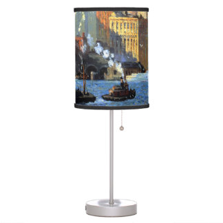 Hudson River Waterfront - Colin Campbell Cooper Desk Lamp